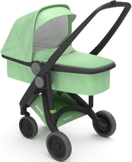 Greentom Upp Carrycot rama Black materia Mint