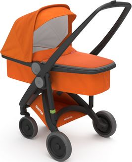 Greentom Upp Carrycot rama Black materia Orange