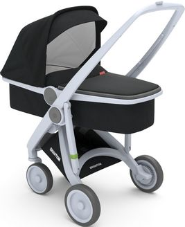 Greentom Upp Carrycot rama Grey materia Black