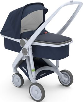 Greentom Upp Carrycot rama Grey materia Blue