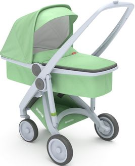 Greentom Upp Carrycot rama Grey materia Mint