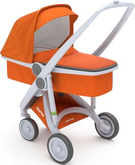 Greentom Upp Carrycot rama Grey materia Orange