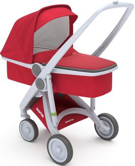 Greentom Upp Carrycot rama Grey materia Red