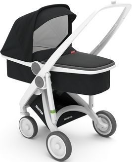 Greentom Upp Carrycot rama White materia Black