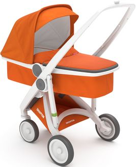 Greentom Upp Carrycot rama White materia Orange