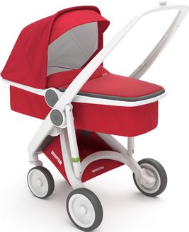 Greentom Upp Carrycot rama White materia Red
